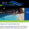 New Wave Pools Austin Pool Builder - Website Design by Austin Web Design
