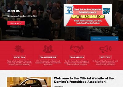 DFA - Custom Association Website Design