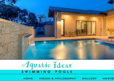 Custom Pool Designer / Builder Website Design