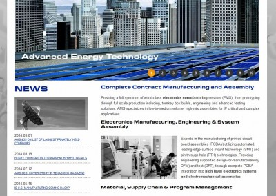 manufacturing website design