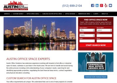 Austin Office Solutions - design by Austin Web Design