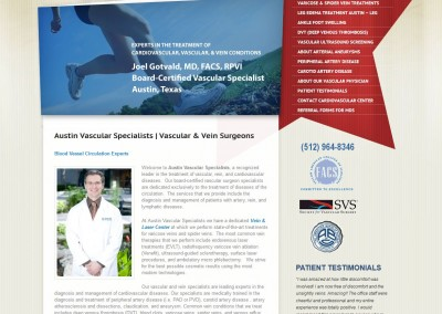 surgeon website design