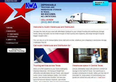 warehouse & distribution website design