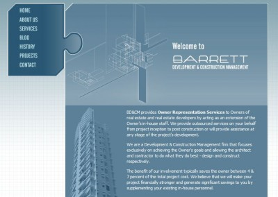 construction management website design