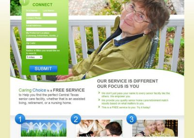 Custom website design for senior care business