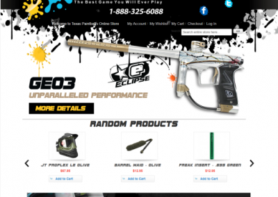 Custom shopping cart design for paintball