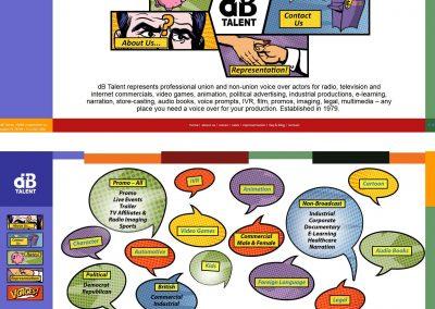 custom responsive website design for dbtalent