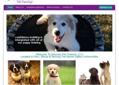 pet trainer website design