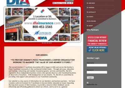 association website designs - private member areas