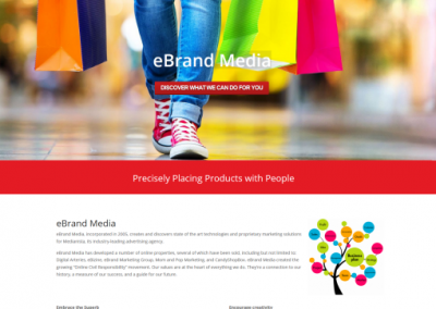 product marketing company website design