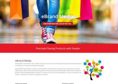 product marketing company website design