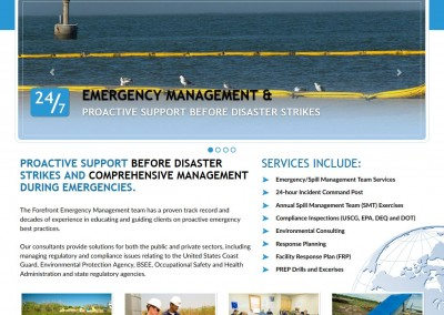 emergency management html 5 website design