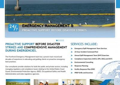 emergency management html 5 website design