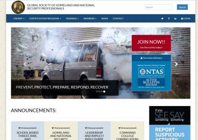 Homeland & National Security Website Design