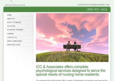 nursing home services website design