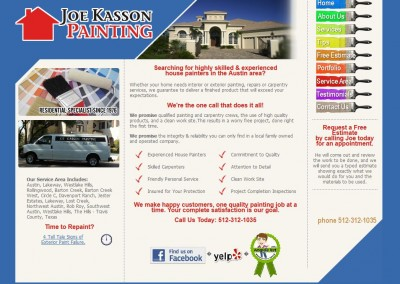painter website designer