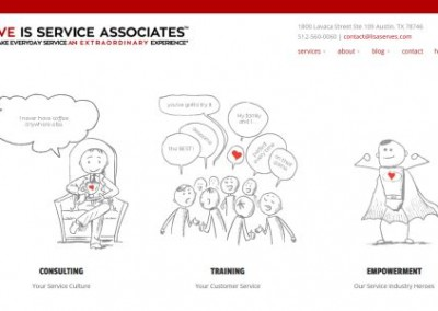 Custom Service Training Company website design