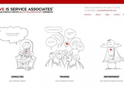 Custom Service Training Company website design
