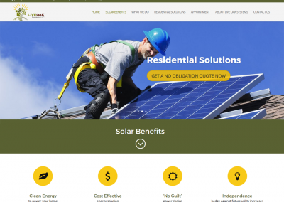 Solar Panel website by austin web design