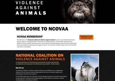 National Coalition on Violence Against Animals - by austin web design