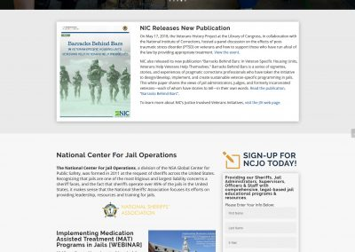 NSA Jail Resources Website - by Austin Web Design