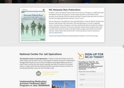 NSA Jail Resources Website - by Austin Web Design