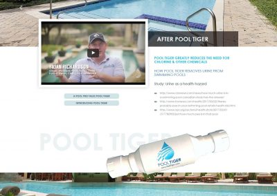 Pool Tiger - Custom Wordpress site - by austin web design