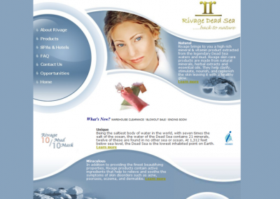 Custom Skin Care Website