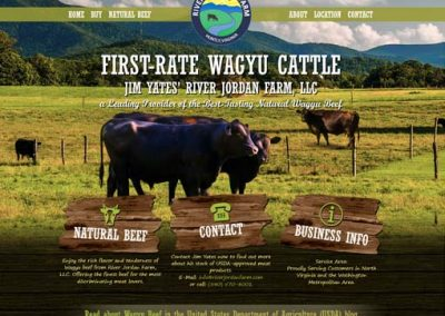 Custom Cattle Farm Website