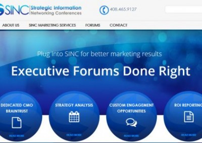 executive forum website design