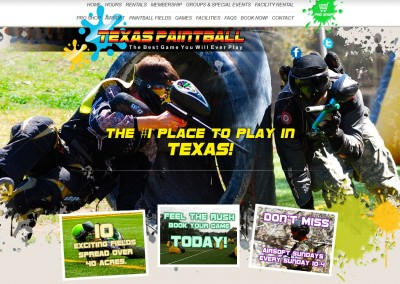 paintball field website designer