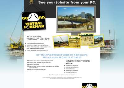Custom website for virtual foreman - by Austin Web Design